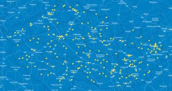 Mapa čerpacích stanic EuroOil